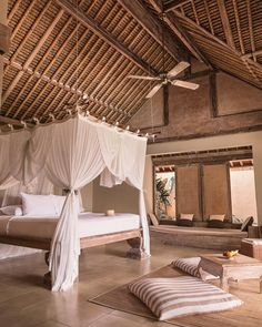 Sunday dreaming of this villa in Bali from : - Architecture and Home Decor - Bedroom - Bathroom - Kitchen And Living Room Interior Design Decorating Ideas - Bali Bedroom, Dream Bedroom, Home Decor Bedroom, Bali House, Bali Style Home, Tropical Bedrooms, Bamboo House, Bali Fashion, Home Interior Design