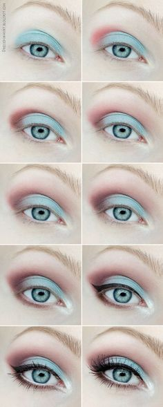 Burgundy/Mint Eye Makeup Tutorial - Head over to Pampadour.com for product suggestions! Pampadour.com is a community of beauty bloggers, professionals, brands and beauty enthusiasts! #makeup #howto #tutorial #beauty #smokey #smoky #eyes #eyeshadow #cosmetics #beautiful #pretty #love #pampadour