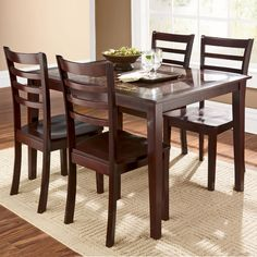 All in one Table & 4 Chairs Dinettes Dining Rooms