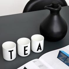 Design Letters Arne Jacobsen cups