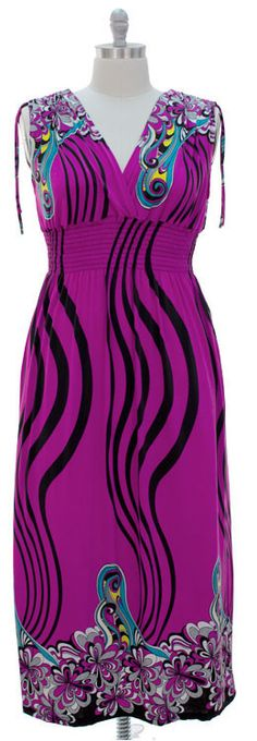Maxi Dress love the color!  Website for sizes 14 and up only!