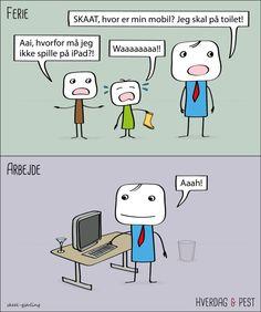 Ferie vs arbejde