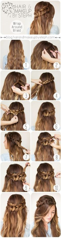 How To Wrap Around Braid. So cute! How To Wrap Around Braid. So cute! The post How To Wrap Around Braid. So cute! appeared first on Frisuren Bob. Easy Work Hairstyles, Braided Crown Hairstyles, Romantic Hairstyles, Pretty Hairstyles, Wedding Hairstyles, Winter Hairstyles, Hairstyle Short, Graduation Hairstyles, Hairstyle Braid