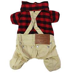 Aus der Kategorie Verkleidungen & Kostüme  gibt es, zum Preis von   Set beinhaltet: 1pc Haustier Plaid Jumpsuit<br/> Zustand: neu ohne Etikett<br/> Material: Polyester<br/> Farbe: Beige (wie abgebildet)<br/> Eigenschaften:<br/> Pet Puppy Dog Gentleman Plaid Jumpsuit T-Shirt Kostüm, halterlos Reverskragen.<br/> Karomuster der oben, Druckknopf-Verschlüsse für einfaches Tragen.<br/> Back Strumpfhalter und zwei hintere Taschen.<br/> Ideales Geschenk für Ihr Haustier Hund.