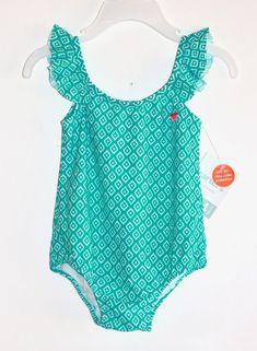 Sol Swim Baby Girls Multi Color Mermaid Shell Ruffle One Piece Swimsuit 12-24M