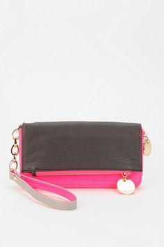 Deux Lux Patent Matte Mix Checkbook Wallet  #UrbanOutfitters