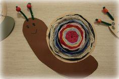 Näin hauskoja etanoita pujotteli 2C-luokka opettajansa Lea Moision johdolla.        Tässä lähikuva yhdestä etanasta. Etanan kuori on puno... Middle School Art, Art School, Bug Crafts, Crafts For Kids, Kindergarten Art Projects, Textile Fabrics, Weaving, How To Make, Snails