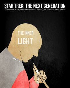 """""""Star Trek: The Next Generation: The Inner Light, Minimal Poster by AshleyRose Sullivan"""" <----I love this episode, it really makes you think about time and experiences and how to communicate important things Star Trek Tv, Star Trek Ships, Star Wars, Best Star Trek Episodes, Star Trek Generations, United Federation Of Planets, Starship Enterprise, Minimal Poster, Love Stars"""
