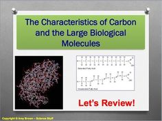 Free.   Advanced Placement (AP) Biology Review PPT: Organic Compounds