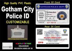 Batman Gotham City Police ID Badge Card Prop Custom with Your Info Photo   eBay