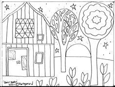 Rug Hook Paper Pattern Quilt Barn Folk Art Abstract Modern Unique Karla G   eBay
