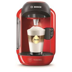 Bosch Tassimo Red 1300 W Vivy Hot Drinks Coffee Maker Machine Chocolate Tea Cup Miele Coffee Machine, Coffee Maker Machine, Drip Coffee Maker, Cheap Coffee Machines, Home Coffee Machines, Espresso Latte, Cappuccino Maker, Latte Macchiato, Nespresso