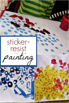 Use stickers in your next art project for resist painting! You could make abstract or representational art.