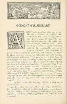 my all time favourite fairytale king thrushbeard from household stories from the collection of