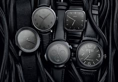 """""""Timepiece Trends: Blacked-Out Watches: Black face, black case, black strap—it's time to get in touch with your (very) dark side"""""""