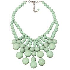 Geranium Retro Bauble Bib Necklace, Mint (€44) ❤ liked on Polyvore featuring jewelry, necklaces, accessories, collares, jewels, bib necklace, mint green necklace, collar necklace, mint bauble necklace and jewel mint jewelry