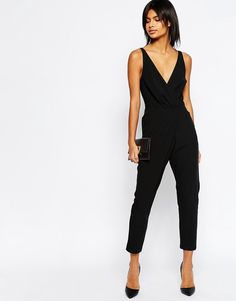 313deb661d ASOS Cami Wrap Jumpsuit with Peg Leg at asos.com