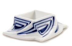 Henry van de Velde, spice bowl (salt dip), c. 1903, manufactured by KPM Meissen, marked with designer's cypher, 6.7cm square  |  SOLD Hammer Price $3,666 Germany 2011