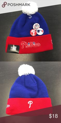 3f681b854b0 Philadelphia Phillies New Era Button Up Beanie Hat Philadelphia Phillies New  Era Beanie Cap. Save money by bundling with other items in my store.