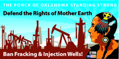 """""""Since 2008 when there was 5 earthquakes in Oklahoma that were under 1.0 to 1.5 we have escalated on a yearly basis until this year, thisyear, in one year, we have had over 5,000 earthquakes."""" — Casey Camp Horinek, Ponca Nation (Oklahoma)"""