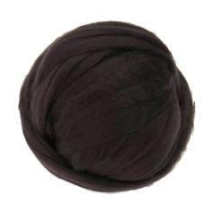 Merino / Silk Roving, (Coffee)