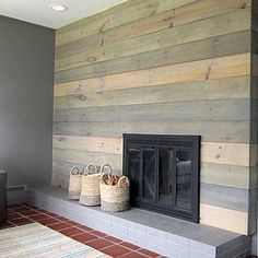Diy concrete fireplace for less than 100 fireplace pinterest designsponge fireplace before after remember this the next time i have a hideous fireplace to redo solutioingenieria Gallery