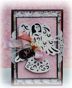 Christmas Angel card created with the Cricut