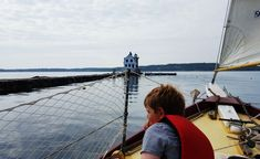 Sailing in Maine - Rockland Breakwater looms ahead as we skim past it on The Bufflehead. Read about how to set up your own day sail. An easy and fun family activity! New England States, Serenity Now, Get Outdoors, New Hampshire, Travel Around, Vermont, Bucket Lists, Sailing