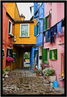 Burano, Venezia, Italy - We visited this very colorful island when we were in Venice; The Places Youll Go, Places To See, Beautiful World, Beautiful Places, Colourful Buildings, Colorful Houses, Voyage Europe, Venice Italy, Italy Italy
