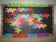 back to school puzzle bulletin board - Google Search