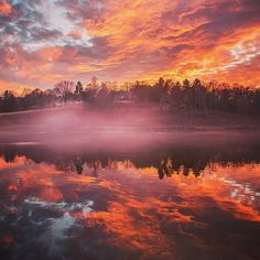 Smoke on the water and fire in the sky : @oanaphoto #LoveVA @charlottesvilleva by visitvirginia