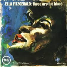 Ella Fitzgerald These are the Blues.Vinyl Album Cover. Verve records.