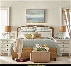 Get inspired by Coastal Bedroom Design photo by Room Ideas. Wayfair lets you find the designer products in the photo and get ideas from thousands of other Coastal Bedroom Design photos. Coastal Bedrooms, Coastal Living Rooms, Living Room Decor, Coastal Bedding, Beach Bedrooms, Seaside Bedroom, Nautical Bedroom, Beach Inspired Bedroom, Decor Room
