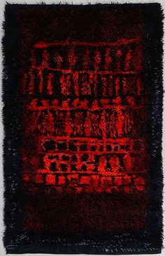 "Rya rug ""Kaski"", Leena-Kaisa Halme, Osakehio Neovius, Helsingfors, 1960-tal, 156x100 cm. Rya Rug, Rugs On Carpet, Carpets, Tallit, Tapestry, Textiles, Image, Design, Auction"