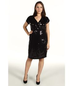 Michael Kors Plus Size Sequined Wrap Dress