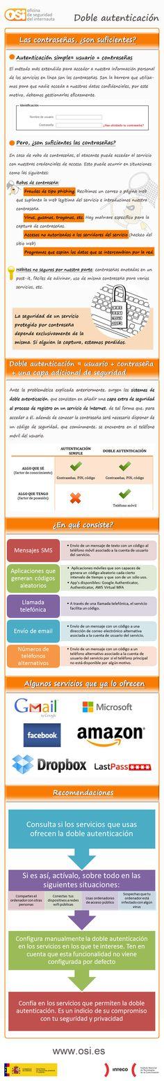 Doble autenticación #infografia #infographic #internet