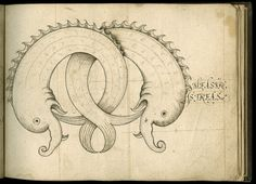 From: John Scottowe, Alphabet of Ornamental Capitals, letter M