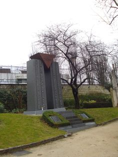 Memorial to concentration camp victims Pere Lachaise Paris