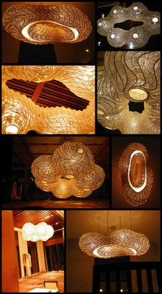 Beautiful sculptural pieces from Thailand made from bamboo and hemp.  They use kite making techniques.