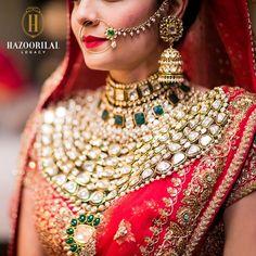 By Hazoorilal Legacy. Shop for your wedding jewellery with Bridelan - a personal shopper & stylist for weddings. Website www.bridelan.com #Bridelan #polki #weddingjewellery #indianjewellery #jadau