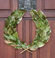 Create your own laurel wreath for the door!