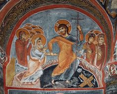 Capadocia, Old Testament, Orthodox Icons, Romanesque, Hades, Illuminated Manuscript, Byzantine, Christ, How To Draw Hands