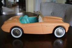 Vintage Barbie 1960s Roadster Pink Austin Healey Convertible Car by TheVintageHousecat on Etsy