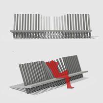 Public bench / original design / composite / modular