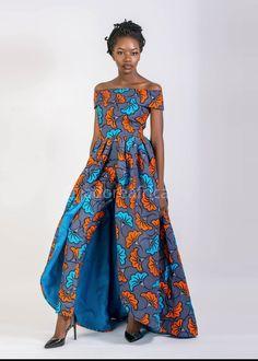 Jumpsuit with cape / Bridal shower jumpsuit / Wedding jumpsuit / Ankara jumpsuit / African jumpsuit / African print jumpsuit / African dress - African Print Jumpsuit, Ankara Jumpsuit, African Print Dresses, African Dress, African Fashion Ankara, African Inspired Fashion, African Print Fashion, Africa Fashion, African Attire