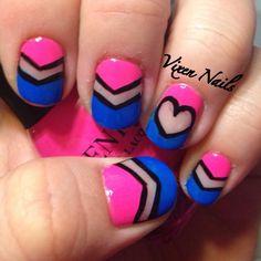cut away nails :) Photo by vixen_nails