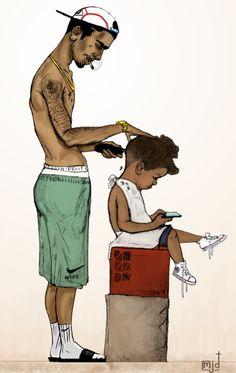 Barber Man, Barber Logo, Best Barber, Barber Tattoo, Dope Cartoons, Dope Cartoon Art, Black Cartoon, Barber Shop Decor, Barber Shop Interior