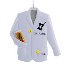 When putting on those white pharmacist coats, new pharmacists can finally feel all of their hard work was worth it! Commemorate this event with this wonderful ornament. Pharmacy Gifts, Pharmacy Student, Pharmacy School, Medical School, Old World Christmas Ornaments, Personalized Christmas Ornaments, Christmas Ideas, Saddlebag Workout, White Coat Ceremony