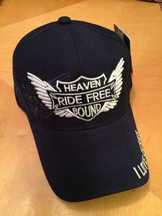 Heaven Bound Ride Free I Love Jesus Christian Blue Baseball Cap in Hats  250f94b2fb1f