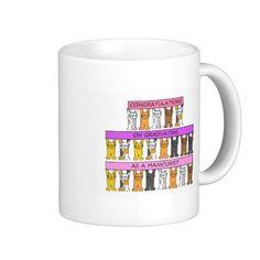 Manicurist garduation congratulations. basic white mug
